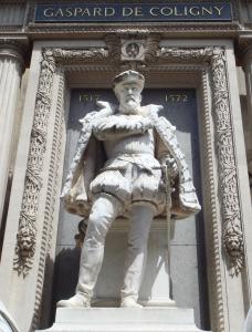 Monument to Gaspard de Coligny, by Gustave Crauck (1827-1905), at the Temple Protestant de l'Oratoire du Louvre, Paris